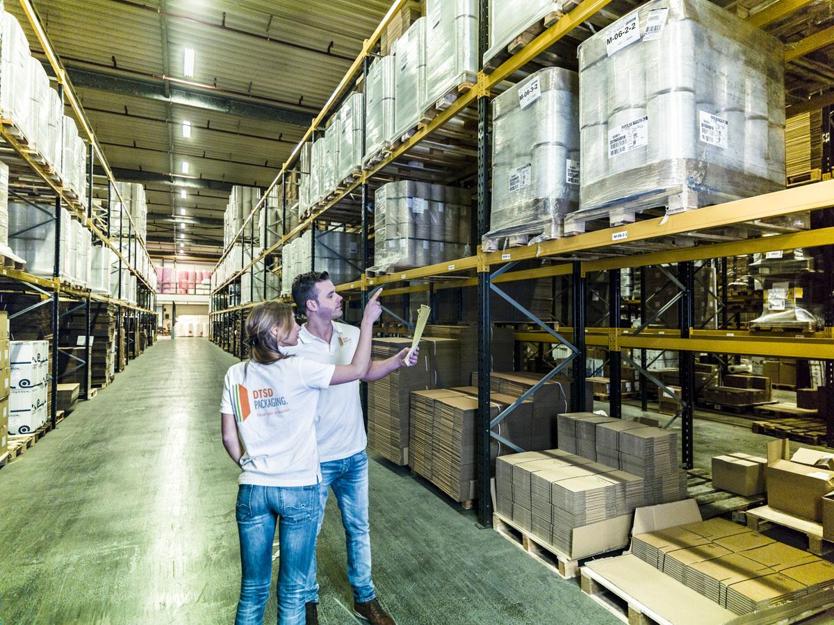 Palletiseren en Palletstabilisatie van DTSD Verpakkingen Dordrecht