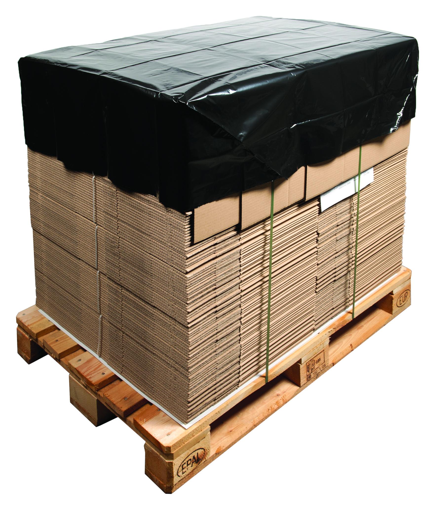 Palletiseren en Palletstabilisatie bij DTSD Packaging met een gestabiliseerde Pallet met kartonnen verpakkingen